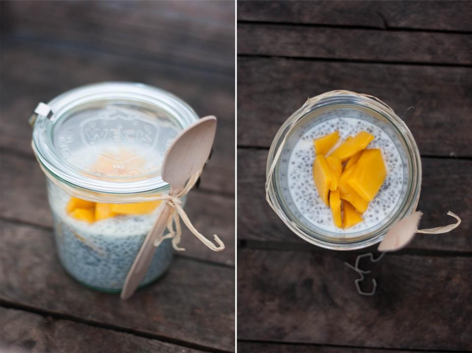 Chia Samen Mango Joghurt